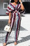 Buy Batwing Sleeve Striped Top & Wide Leg Pants, whatwears