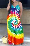 Buy Spaghetti Straps Tie Dye Pocket Maxi Dress, whatwears
