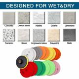 Buy 19-Pieces 4 inch Diamond Polishing Pads with 1 Backer Backing Pad for Marble Granite Concrete Quartz Stone Angle Grinder 30/50/100/150/300/500/800/1500/3000 Grit, TOMTOP