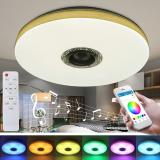 Buy ARILUX 30W 38cm Modern Dimmable LED Ceiling Lamp RGBW WiFi Bluetooth Music Smart Ceiling Light 220VAPP+Remote Control