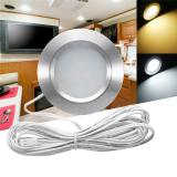 Buy RV LED Round Recessed Ceiling Light Flat Panel Down Cabinet Lamp Warm White/White, Eachine1, Indoor Lighting