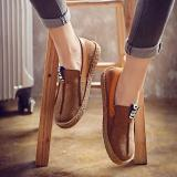 Buy Women Stitching Soft Sole Round Toe Slip On Casual Flats Loafers, Banggood