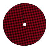 Buy Christmas Tree Skirt Non Woven Fabric Black And Red Plaid Christmas Tree Mat Christmas Gift Holder For Home Party Decora, Banggood