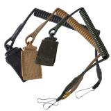Buy Outdoor Climbing Spring Sling Lanyard Tactical Belt Strap Hanging Buckle For Duty Camping Security, Eachine1, Fishing & Hunting