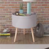 Buy Side Table with Serving Tray Round 39.5x44.5 cm Grey, Other