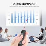 Buy 2.4GHz Wireless Presenter Remote Red Light Pointer Presentation Clicker Wireless Presenter PPT Flip Pen with USB Receiver Grey, TOMTOP