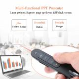 Buy KKmoon 2.4GHz Wireless PowerPoint Clicker Remote Controller Flip Laser Pen Pointer Handheld PPT Presenter Unibody 10m Controlling Range Support Hyperlink Volume Control with USB Receiver, TOMTOP