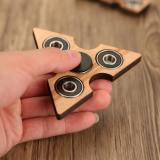 Buy Tri Fidget Hand Finger Spinner Spin Widget Focus Toy EDC Pocket Desktoy Triangle Wooden Gift for ADHD Children Adults, TOMTOP