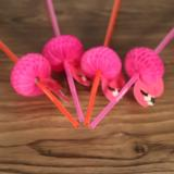 Buy 50pcs/set Cute Plastic Straws for Birthday Wedding Baby Shower Celebration and Party Multifunctional Straws with Flamingo Decorated, TOMTOP
